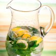 Pitcher refreshing drink — Lizenzfreies Foto