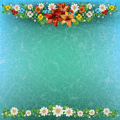 Abstract spring background with flowers — Stock Vector