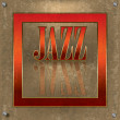 Abstract cracked background with the word jazz - Stockvectorbeeld