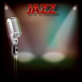抽象的なジャズの背景 — ストックベクタ