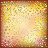 Christmas golden stars abstract background — Stock Vector