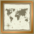 Abstract background with olden map — Imagen vectorial