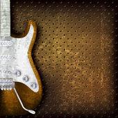Fondo grunge abstracto con guitarra eléctrica — Vector de stock