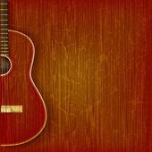 Akustikgitarre auf abstract grunge hintergrund — Stockvektor