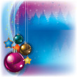 Abstract greeting with Christmas decorations - Imagen vectorial