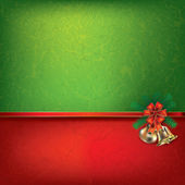 Christmas bells and ribbon — Stock Vector