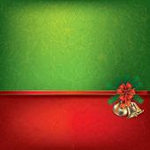 Christmas bells and ribbon — Stock Vector