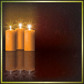 Christmas candles on dark background — Stock Vector