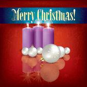 Astratto saluto con candele e decorazioni — Vettoriale Stock