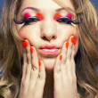 Stock Photo: Lady with bright makeup