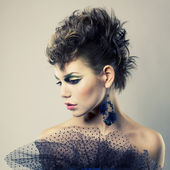 Beautiful lady punk — Stock Photo