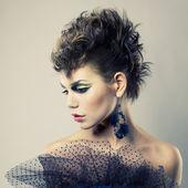 Beautiful lady punk — Stock Photo