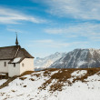 Royalty-Free Stock Photo: Small church with mountain panorama