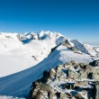 Monte rosa mountain range - Stock Photo