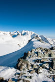 Monte rosa mountain range — Stockfoto