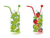 Mojito drinks — Stock Vector