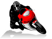 Motorcycle racer — Vector de stock