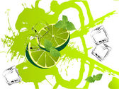 Mojito splash — Stock Vector