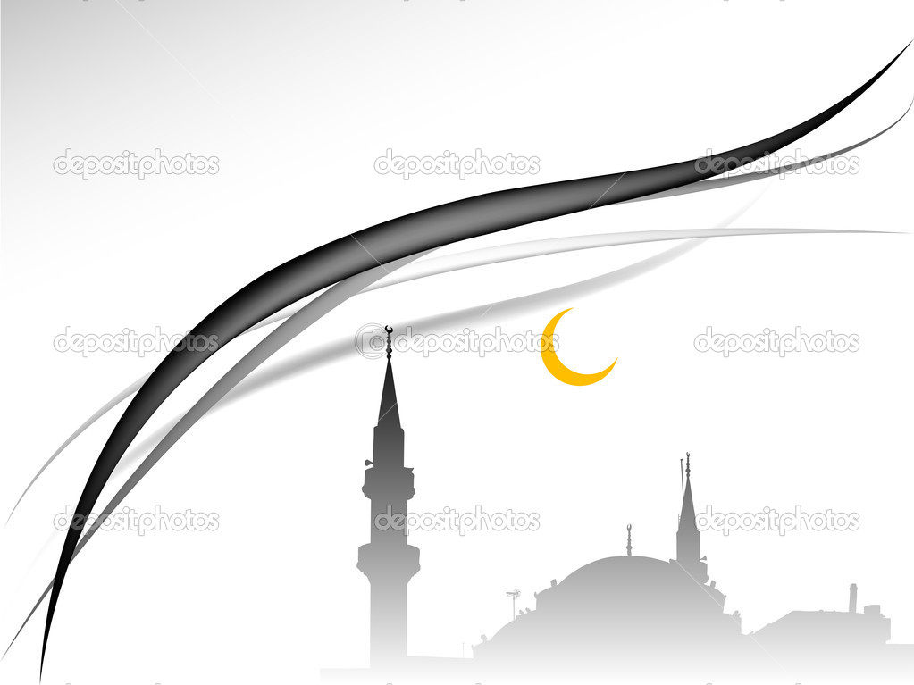 Abstract background with the mosque — Stock Vector #11889593