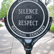 Silence and Respect — Stock Photo