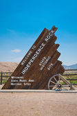 Independence Rock Sign — Stock Photo