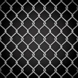 Metal fence on a dark background. - Stock Vector