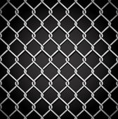 Metal fence on a dark background. — Stock Vector