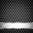 Royalty-Free Stock Vector Image: Metal fence on a dark background.