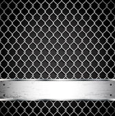 Metal fence on a dark background. — Stockvector