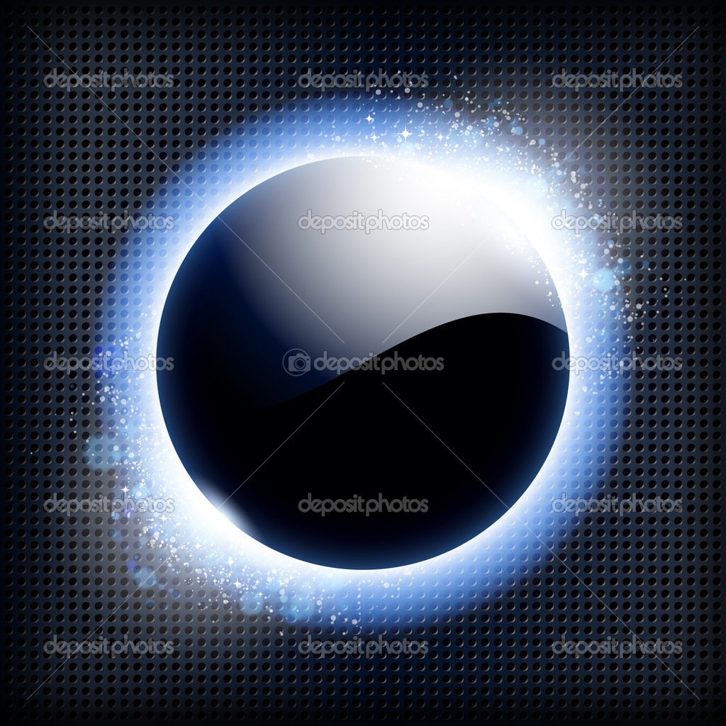 Techno background with blue light frame. — Stock Vector #11395450