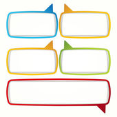 Colorful speech bubble frames. — Vettoriale Stock