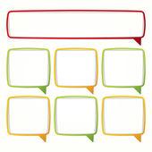 Renkli konuşma balonu çerçeveler. — Stok Vektör