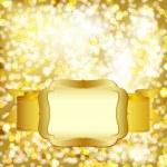Luxury golden christmas lights background. — Stock Vector