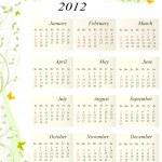 Calendar 2012 USA — Stock Vector #11818698