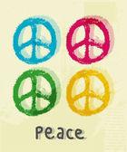 Barış işareti gösteren resim — Stok Vektör