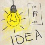 Innovative lamp. idea concept — Stock Vector #11033578