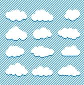Clouds collection — Stockvector