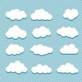Colección de las nubes — Vector de stock