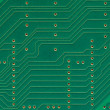 Printed circuit board, electronic components plate macro closeup — Stock Photo