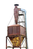 Dust purification cyclone air vortex separation separator, old a — Stock Photo