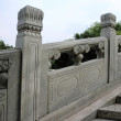 图库照片: Bridge handrail