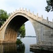 Stock Photo: Ancient arch bridge