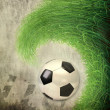 Soccer ball on grunge background — Stock Photo #12043258