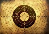 Grunge arka plan üzerinde kurşun delikleri ile hedef — Stok fotoğraf