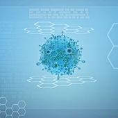Abstract illustration of virus on digital background — Stock Photo