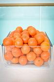 Oranges glass box — Stock Photo