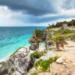 Idyllic Caribbean beach of Tulum, Mexico — Stock Photo