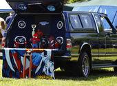 Spiderman pickup — Stock Photo