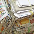 Stock Photo: Pile of old paper for recycling