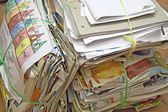 Pile of old paper for recycling — Stock Photo